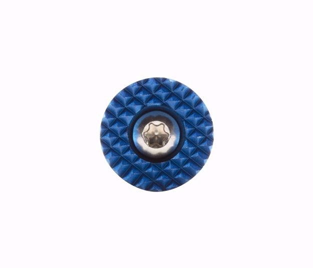 Q-SERIES EXTENDED MAGAZINE RELEASE BUTTON (ROUND BLUE)